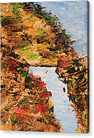Downhill Stream Abstract Acrylic Print