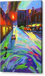 Downpour In The City Acrylic Print