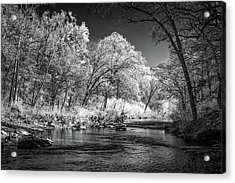 Acrylic Print featuring the photograph Downstream At Natural Dam by James Barber