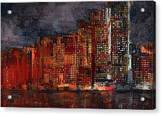 Downtown Acrylic Print by Alex Galkin