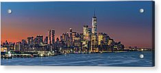 Downtown And Freedom Tower Acrylic Print