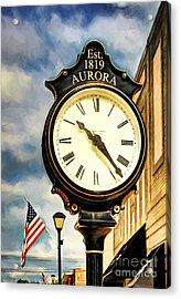 Downtown Aurora Indiana Acrylic Print by Mel Steinhauer