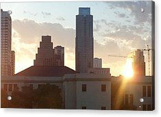 Downtown Austin Acrylic Print by Karen J Shine