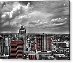 Downtown Baltimore City Acrylic Print