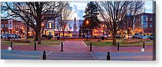 Downtown Bentonville Arkansas Town Square Panoramic  Acrylic Print