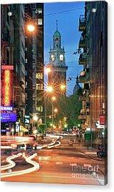 Acrylic Print featuring the photograph Downtown by Bernardo Galmarini