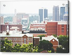 Acrylic Print featuring the photograph Downtown Birmingham - The Magic City by Shelby Young