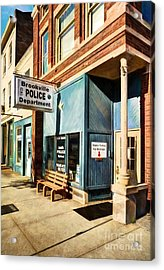 Downtown Brookville Indiana Acrylic Print by Mel Steinhauer