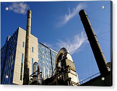 Downtown Buildings And Factory In Seattle Washington Acrylic Print