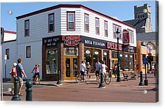 Downtown Cape May New Jersey Acrylic Print by Rod Jellison
