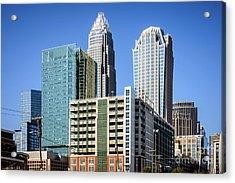 Downtown Charlotte North Carolina Buildings Acrylic Print by Paul Velgos