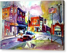Downtown Cobleskill New York Acrylic Print