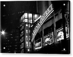 Acrylic Print featuring the photograph Downtown Columbus Bw1734 by Brian Gryphon