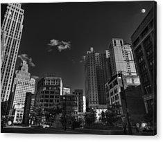 Downtown Detroit 004 Bw Acrylic Print