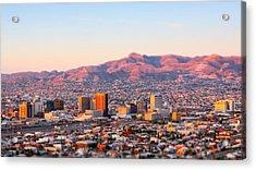 Downtown El Paso Sunrise Acrylic Print