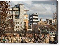Downtown Fayetteville Arkansas Skyline - Dickson Street Acrylic Print by Gregory Ballos