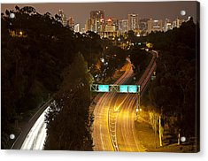 Downtown From El Prado Acrylic Print