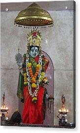 Downtown Ganeshpuri Durga Temple Acrylic Print by Jennifer Mazzucco