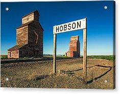 Downtown Hobson, Montana Acrylic Print by Todd Klassy