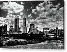 Downtown Indianapolis Skyline Black And White Acrylic Print