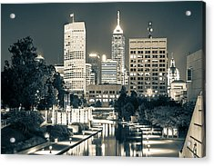 Downtown Indianapolis Skyline Acrylic Print by Gregory Ballos