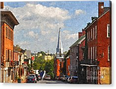 Downtown Lexington 3 Acrylic Print by Kathy Jennings