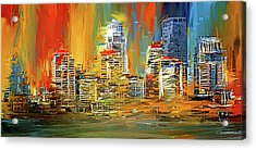 Downtown Louisville - Colorful Abstract Art Acrylic Print by Lourry Legarde