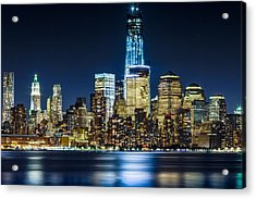 Downtown Manhattan From Hoboken Acrylic Print