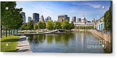 Downtown Montreal In Summer Acrylic Print