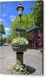 Downtown Nantucket - Garden View 46y Acrylic Print