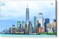 Downtown New York City Acrylic Print by Ivan Santiago