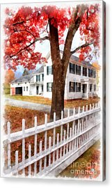 Downtown Norwich Vermont Picket Fence Acrylic Print