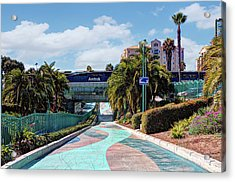 Downtown Oceanside Acrylic Print by Ann Patterson