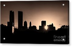 Acrylic Print featuring the photograph Downtown Oklahoma City by Betty LaRue