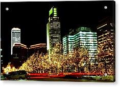 Downtown Omaha Skyline Acrylic Print by Jetson Nguyen
