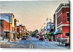 Downtown Paragould Acrylic Print by JC Findley