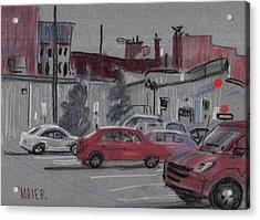 Downtown Parking Acrylic Print by Donald Maier