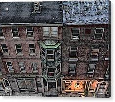 Downtown Philadelphia Building Acrylic Print by Anthony Rapp