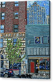Downtown Raleigh - West Martin Street Acrylic Print by Micah Mullen