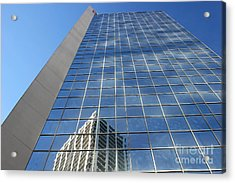 Acrylic Print featuring the photograph Downtown Reflection by Wilko Van de Kamp