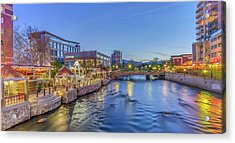Acrylic Print featuring the photograph Downtown Reno Along The Truckee River by Scott McGuire
