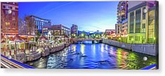 Downtown Reno Summer Twilight Acrylic Print