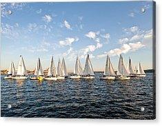 Downtown Sailing Series Acrylic Print by Tom Dowd