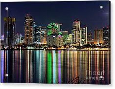 Acrylic Print featuring the photograph Downtown San Diego by Eddie Yerkish