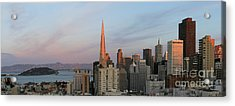 Downtown San Francisco And Bay Bridge Acrylic Print