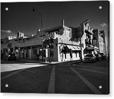 Downtown Santa Fe 001 Bw Acrylic Print