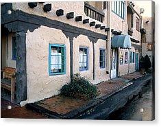 Acrylic Print featuring the photograph Downtown Santa Fe by AnnaJanessa PhotoArt