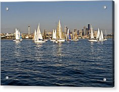 Downtown Seattle Acrylic Print by Tom Dowd