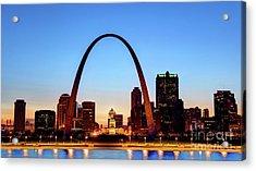 Downtown St Louis, Missouri Skyline Acrylic Print by Denis Tangney Jr