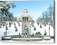 Downtown Sylva Courthouse Christmas 2016 Acrylic Print